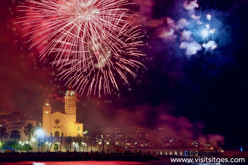 Castell de foc – Fuegos artificiales – Fireworks – Santa Tecla Sitges 2021