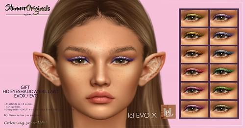 HD EyeShadow EvoX / Evo Brillant for the GROUP GIFT.