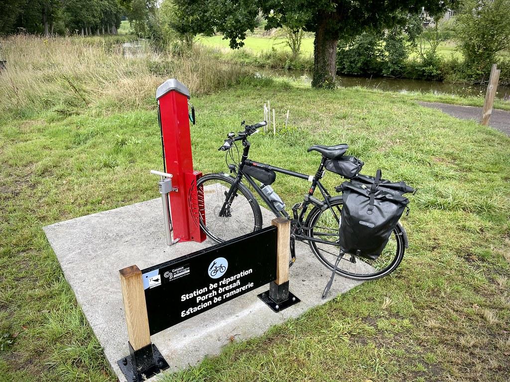 Station de réparation vélo en libre-service