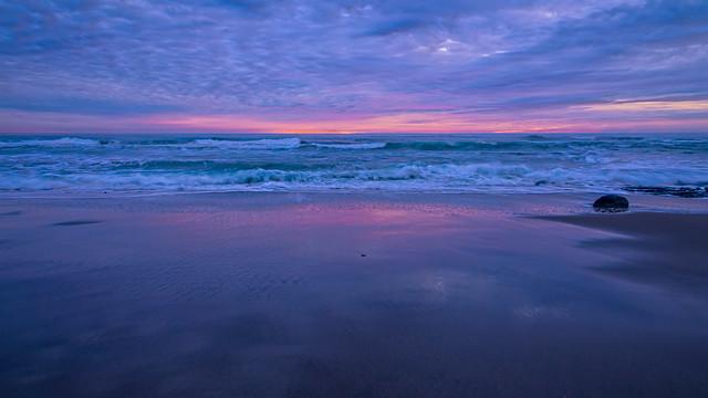 Laguna Creek Beach in purple