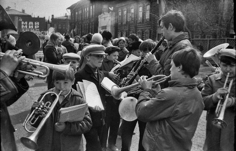 1980. Томск. Наш оркестр 1 Мая