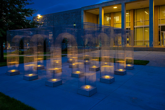 Public Art at JMU: Light Pavilion