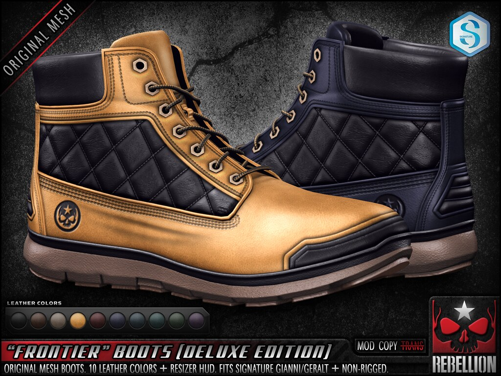 """= REBELLION = """"FRONTIER"""" BOOTS (DELUXE EDITION)"""