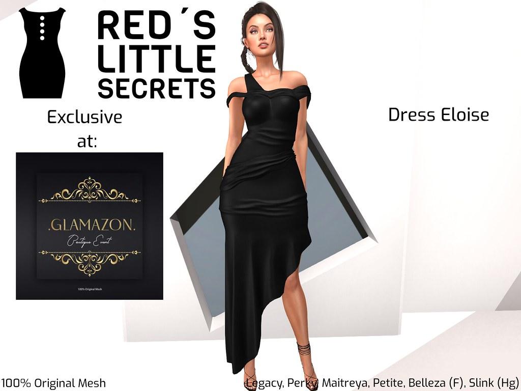 RLS Dress Eloise Satin Exclusive @Glamazon