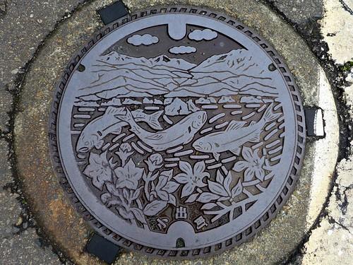 Koide Nigata, manhole cover 2 (新潟県小出町のマンホール2)
