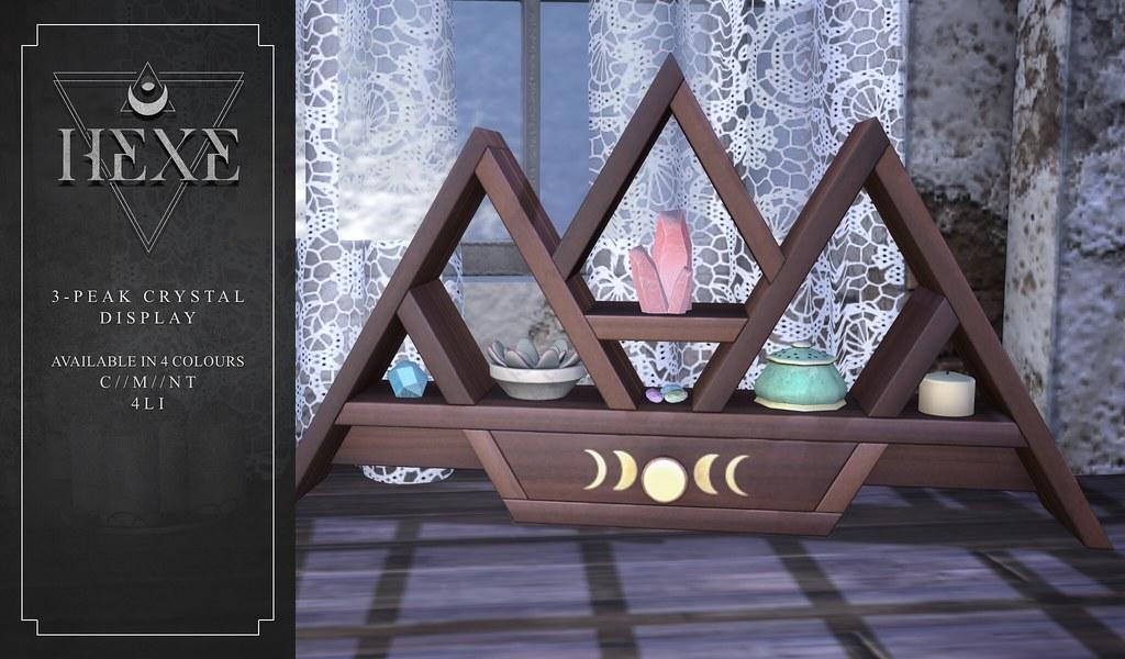 HEXE 3-Peak Crystal Display