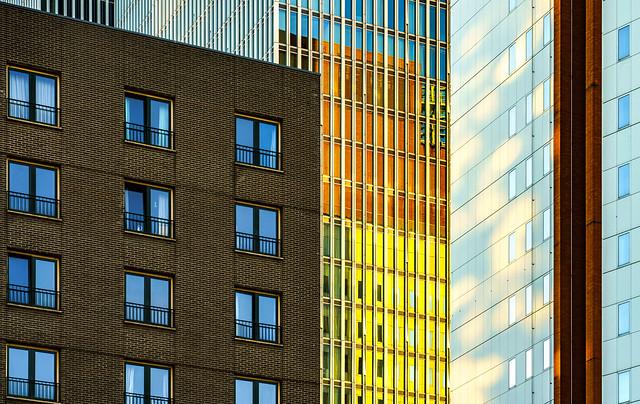 three buildings