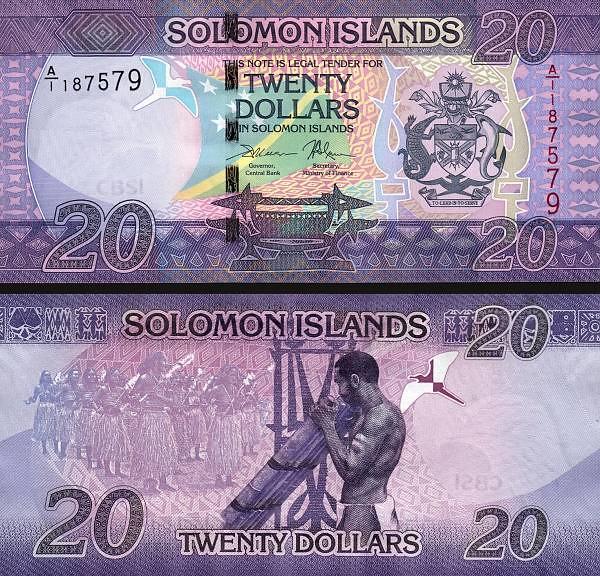 20 Dolárov Šalamúnove ostrovy 2017, P34a
