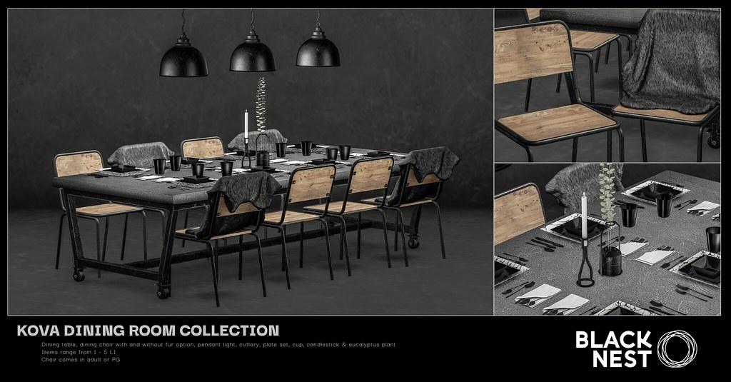 BLACK NEST | Kova Dining Room Collection | Uber