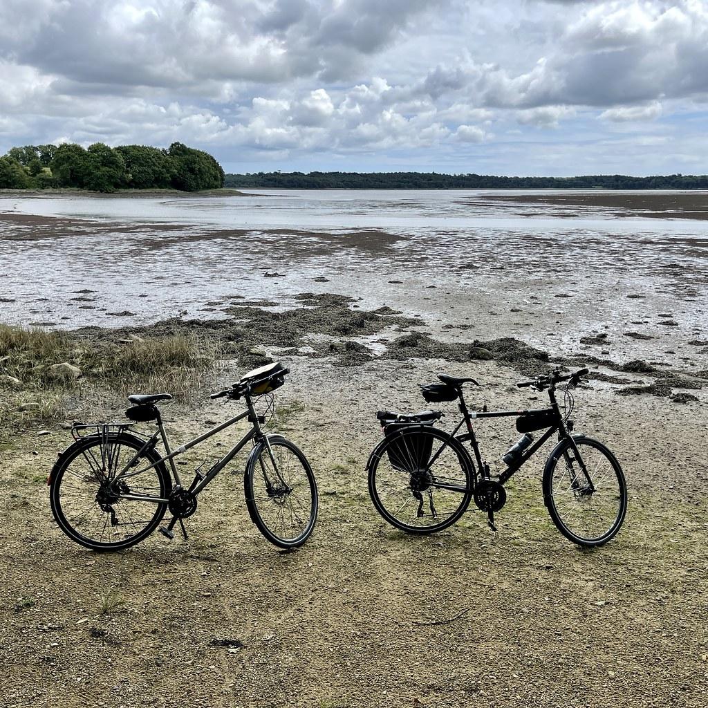 Les vélos le long de l'Odet