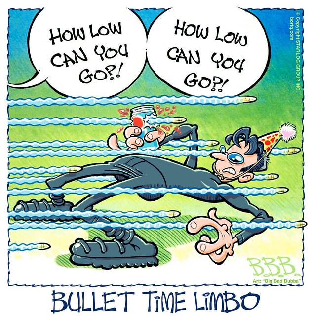 The Matrix Bullet Time Limbo   A Starlog Archive Cartoon