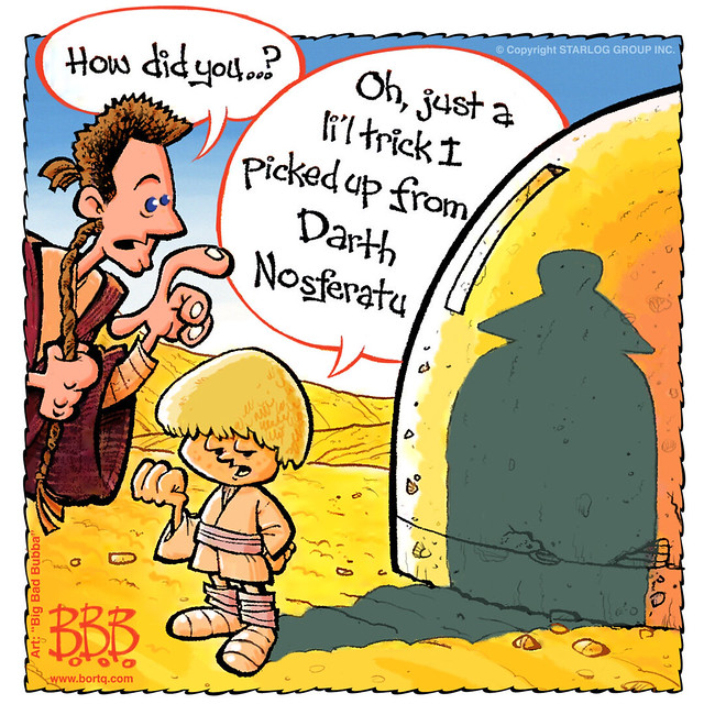 For Anakin's Next Trick, He Will Turn Himself Into A Bat! BLAUGH!   A Starlog Archive Cartoon