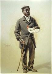 a black worker in Bradford in Victorian times