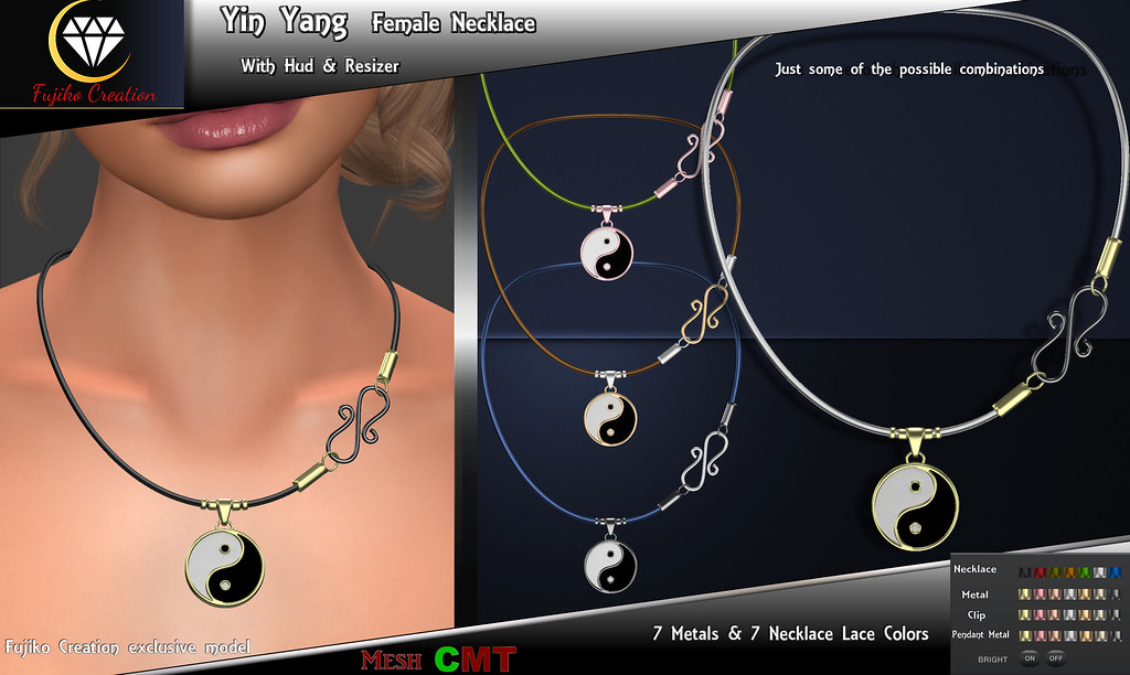 Female Yin Yang Necklace With Driven hud & resizer