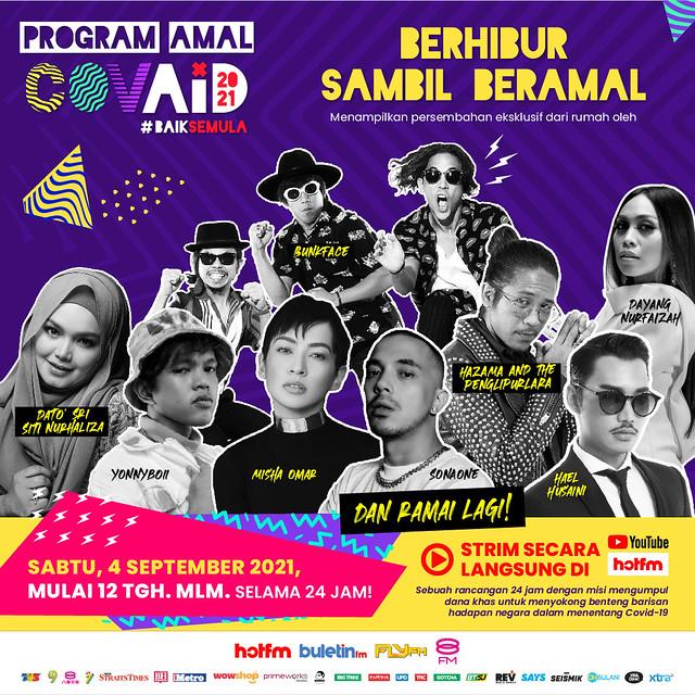 Selebriti Popular Jayakan Program Amal Covaid #Baiksemula Anjuran Hot Fm