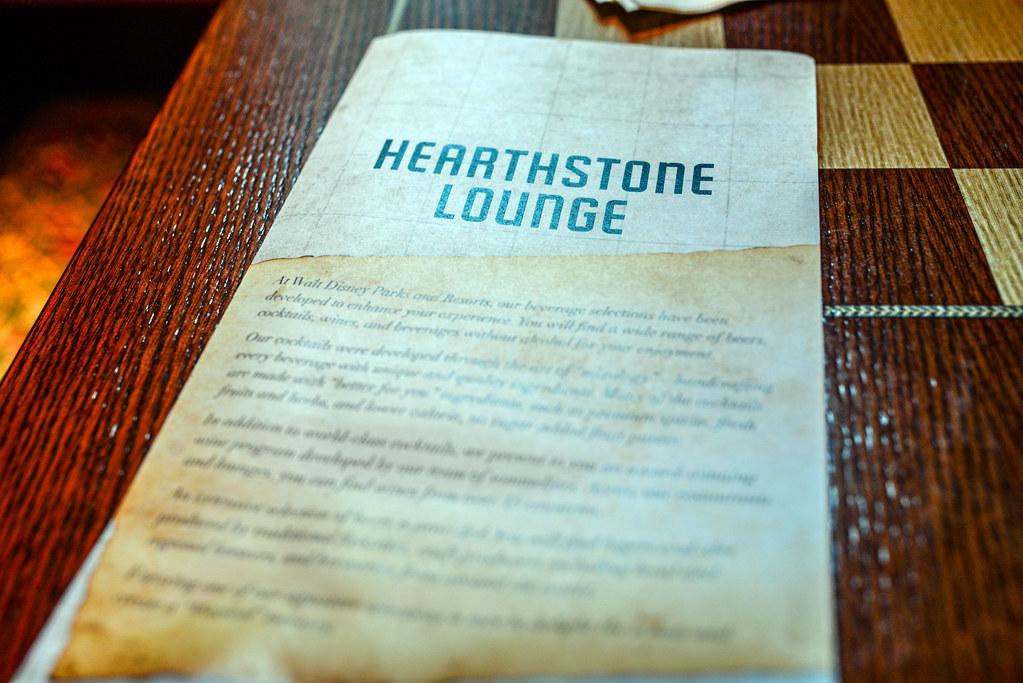 Hearthstone Lounge menu