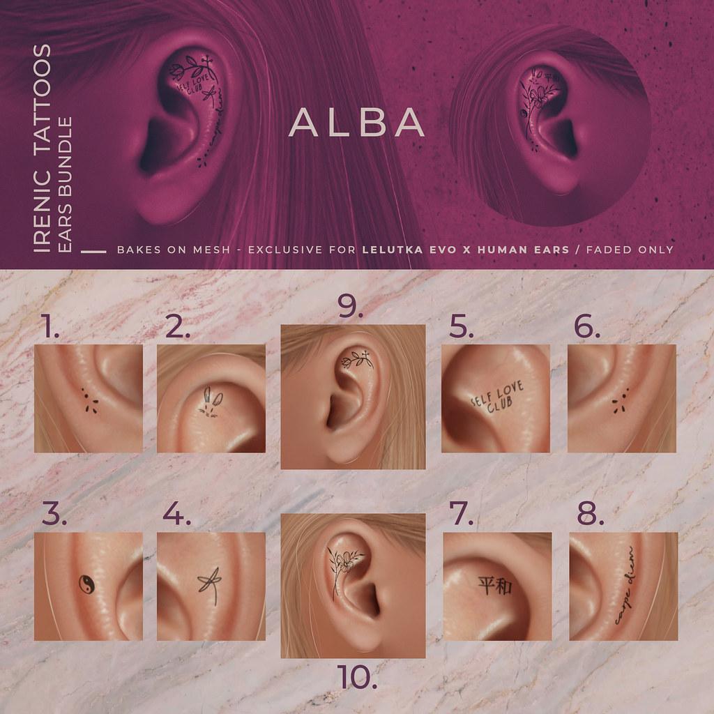 ALBA – Irenic Tattoos Ears Bundle @ Harajuku