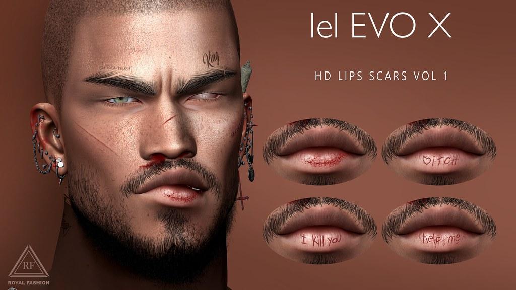 [ Royal Fashion ] HD Lips Scars Vol 1
