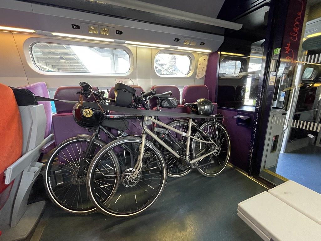 Les vélos dans le train du retour