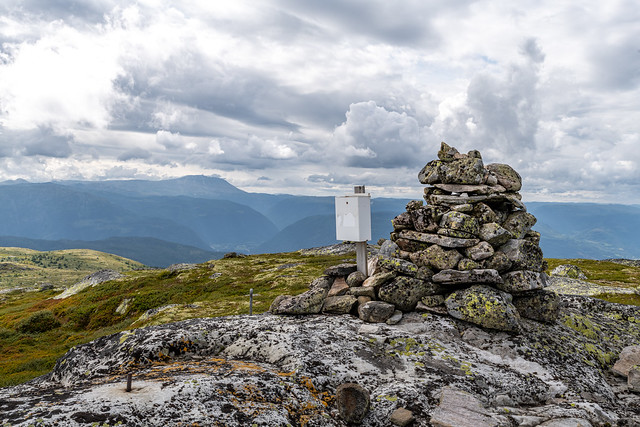 Mailbox on top of the Haugefjell (1214 moh), Norway.