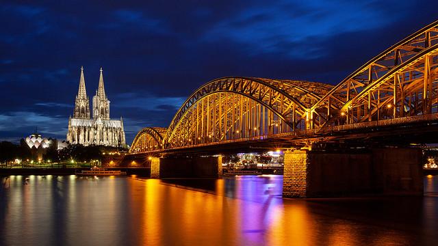 Cologne on the Rhein with the Hohenzollern Bridge