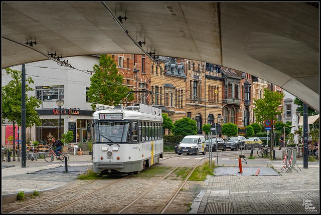 27-07-21 De Lijn PCC 7052, Antwerpen - Draakplaats
