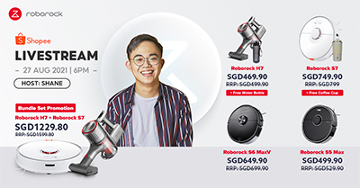 The Roborock Live Show is a livestream series via Shopee Live at its official Shopee store that will allow viewers to purchase selected Roborock products with livestream exclusive deals.