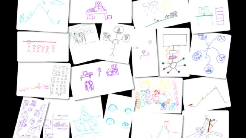 Participant generated images representing their work experience
