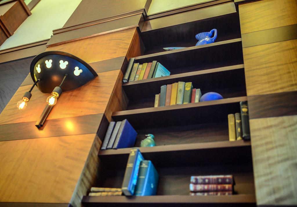 Hearthstone Lounge bookshelf