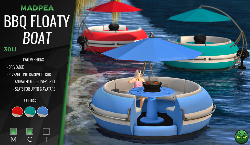 MadPea BBQ Floaty Boat *GIVEAWAY*