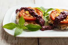 Breaded Eggplant Stacks with Amaranth Pesto