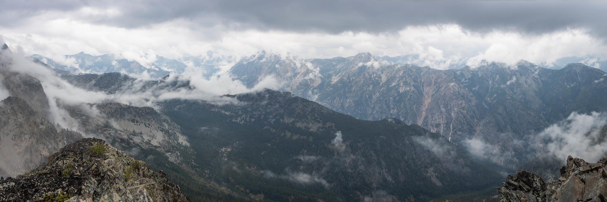 Eureka Creek lineup panoramic view