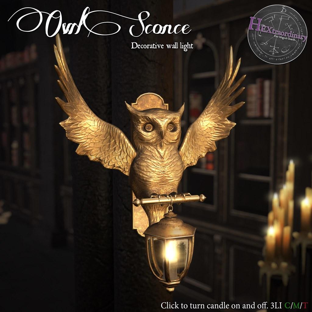 HEXtraordinary – Owl Sconce – Wizarding Faire