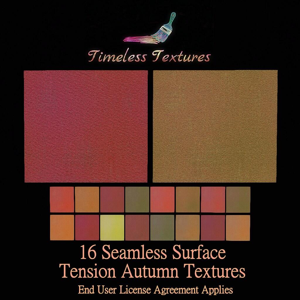 TT 16 Seamless Surface Tension Autumn Timeless Textures