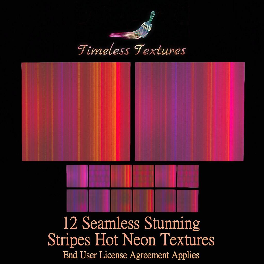 TT 12 Seamless Stunning Stripes Hot Neon Timeless Textures