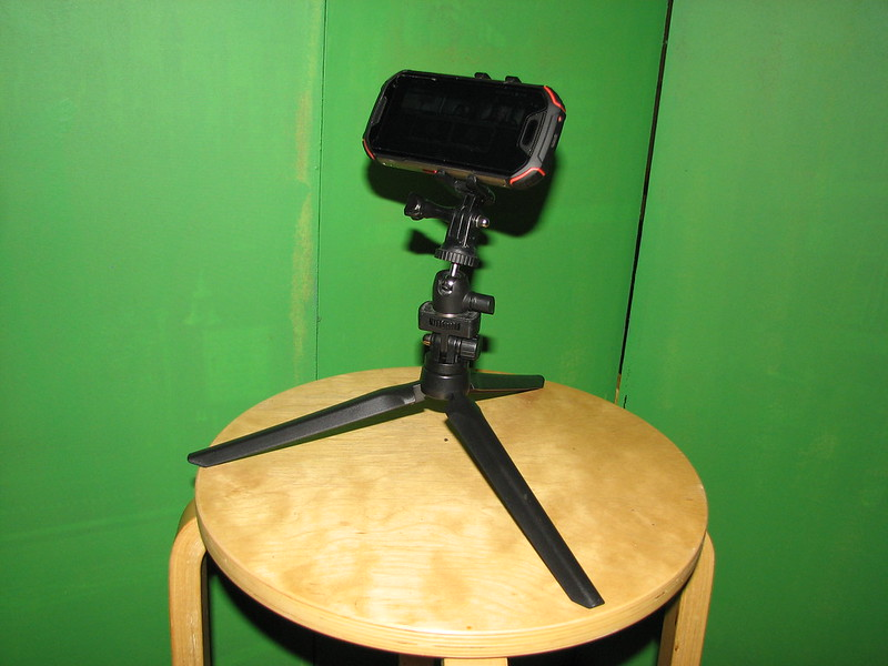 Smartphone on Tripod for Video Conference