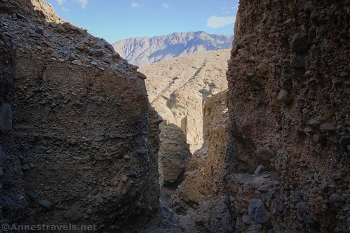 Views from Slot 3 (I think) of the Black Mountains beyond Sidewinder Canyon, Death Valley National Park, California