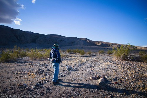 At the Sidewinder Canyon Trailhead, Death Valley National Park, California