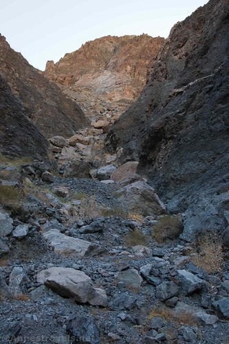The jumble of rocks that marks the end of Sidewinder Canyon, Death Valley National Park, California