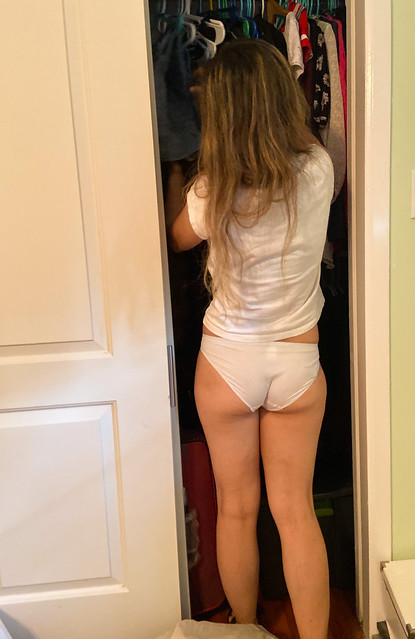 SEE… ALL THE TIME, she leaves the closet door open!!!! WTF?!!!