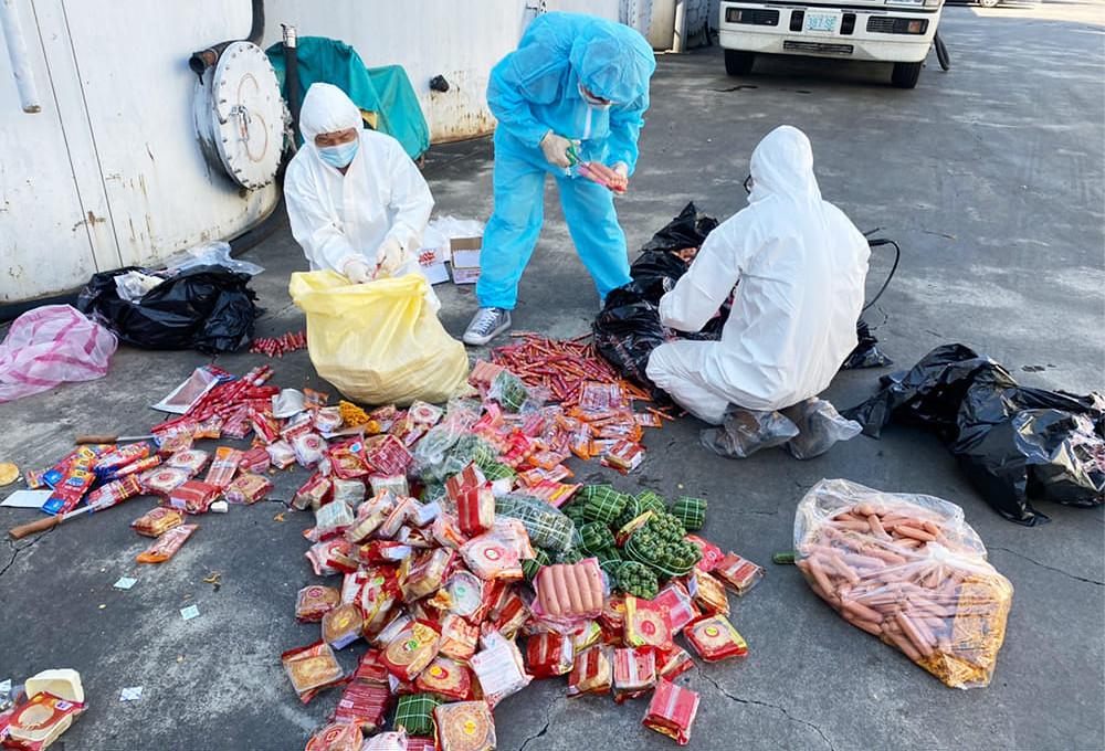 20210825市面查獲走私越南非洲豬瘟陽性豬肉品案。國內首度破獲非洲豬瘟陽性走私肉製品。照片:陳吉仲臉書