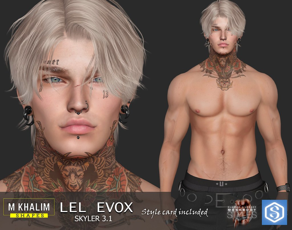 Kelly Shape for Lelutka Head Evox Skyler 3.1
