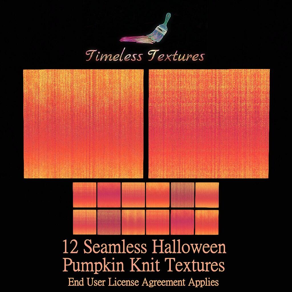 TT 12 Seamless Halloween Pumpkin Knit Timeless Textures