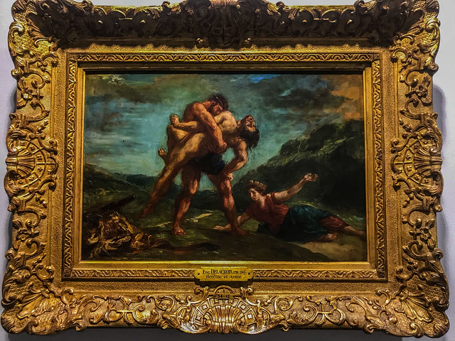 Hercule et Antee by Delacroix