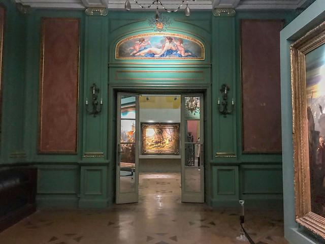 An exhibit inside Aisha Fahmy Palace