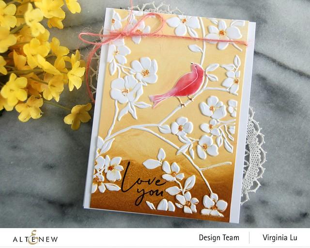 Altenew-BlossomingBranches 3D Embossing Folder-Rose Tea Stamp Set-002