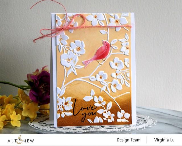 Altenew-BlossomingBranches 3D Embossing Folder-Rose Tea Stamp Set (2)