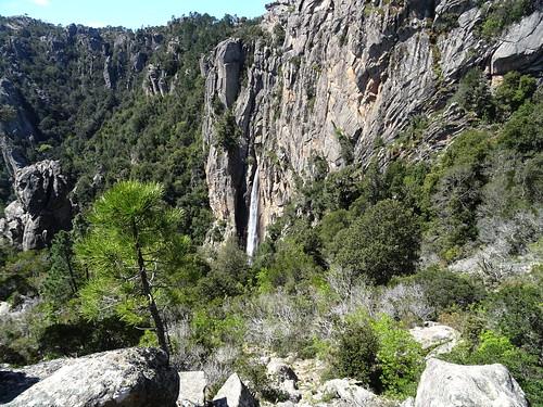 Arrivée au-dessus de la cascade
