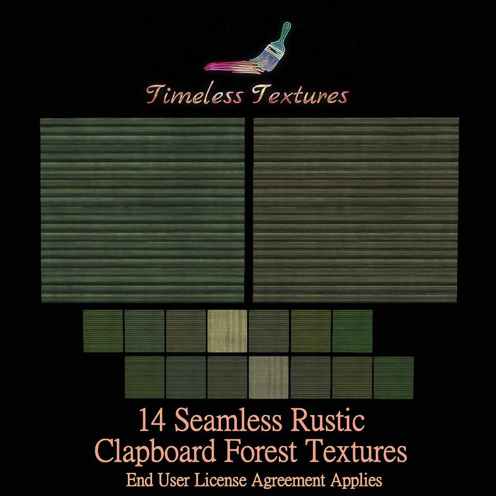 TT 14 Seamless Rustic Clapboard Forest Timeless Textures