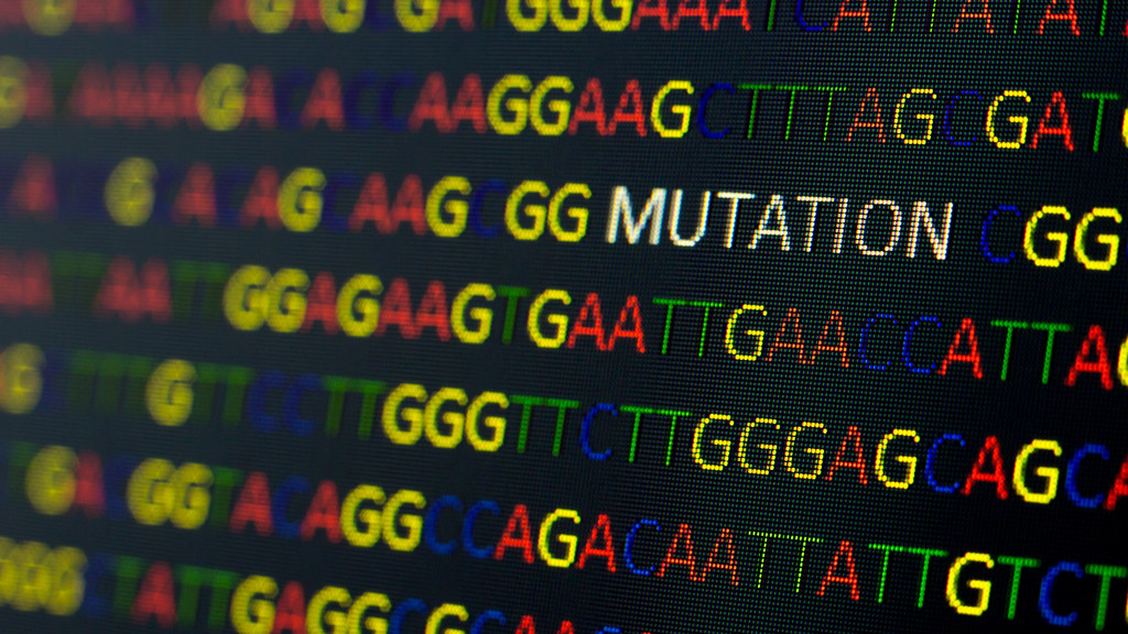DNA sequence showing a mutation
